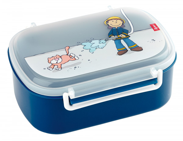 SigiKid Brotzeitbox Frido Firefighter Blau