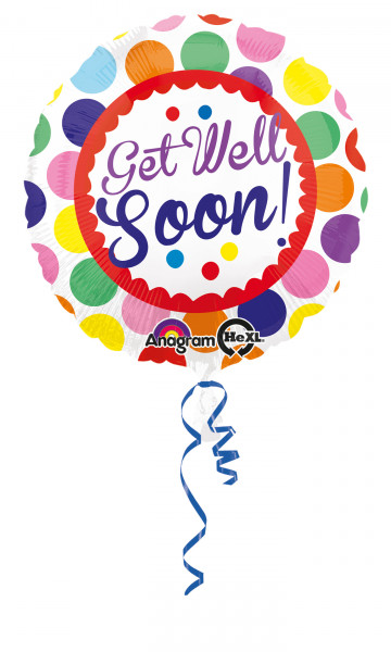 "Folienballon ""Get well soon"""