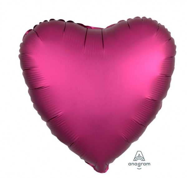 "Folienballon ""Satin Luxe Pomegranate"" Herz"