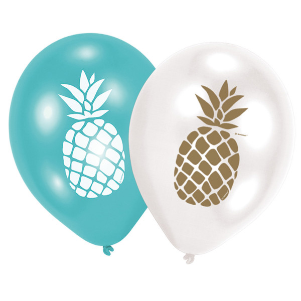 6 Balloons Pineapple Vibes