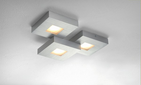 LED-Deckenleuchte CUBUS 3-flammig silber