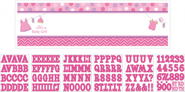 """Signalbanner Baby Shower """"With Love - Girl"""""""