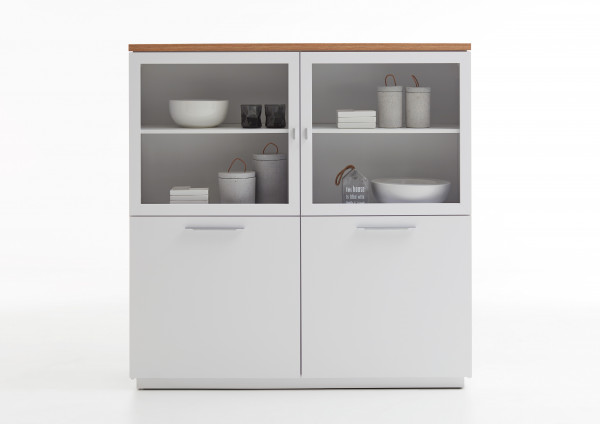 Highboard Viola 2 Glas 2 Holzturen Kommoden Sideboards