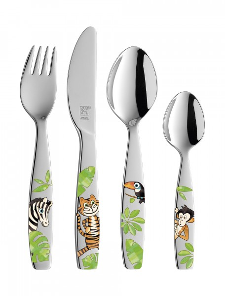 Zwilling Kinderbesteck Jungle 4-teilig