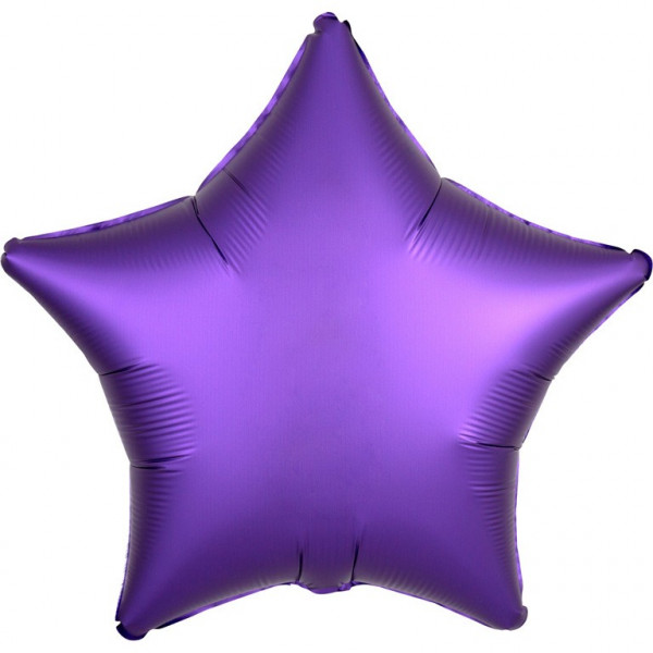 "Standard ""Satin Luxe Purple Royale"" Folienballon"