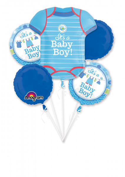 """Folienballons Baby Shower """"With Love Boy"""""""